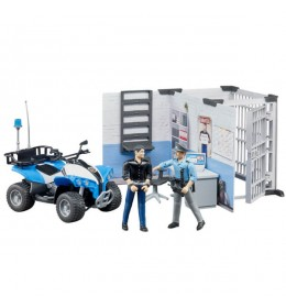 Set policijska stanica sa figurama i Quadom Bruder