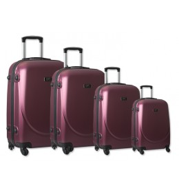 Set 4 ABS kofera Sanremo bordo