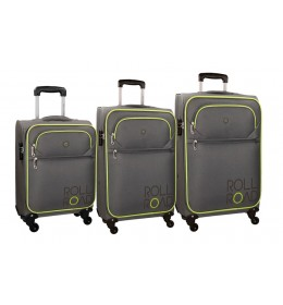 Set kofera Rool Road 55/68/79 cm Chelsea gray-green