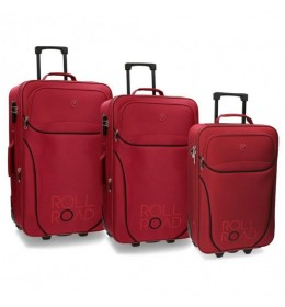 Set kofera Rool Road 53/63/73 cm Chelsea red 50.284.64