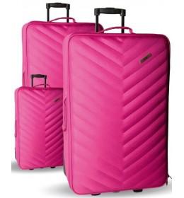 Set kofera 3/1 Sazio Doha Pink