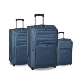 Set kofera za putovanje 3/1 Melbourne u plavoj boji