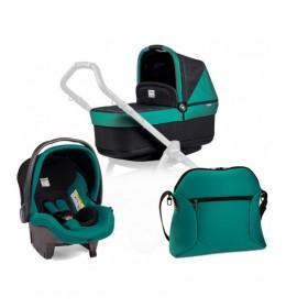 Set nosiljka, autosedište i torba Modular Pop Up Aquamarine