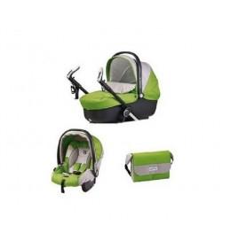 Set nosiljka, autosedište i torba Mopdular On track Green tea