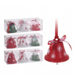 Set ukrasnih zvončića za jelku 3komada