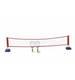 Set za tenis komplet mrežica, 2 reketa i 2 loptice
