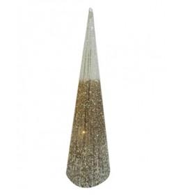 Shiny cone Novogodišnja svetlucava jelka 50cm zlatna