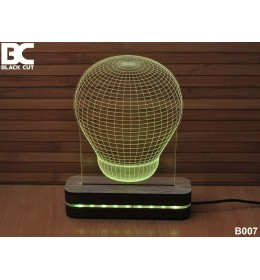 3D lampa Sijalica ljubičasta