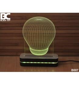 3D lampa Sijalica plava