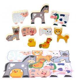 Slagalica puzzle za decu farma PlayGo