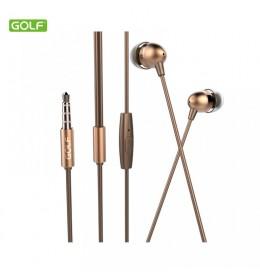 Slušalice za mobilni GOLF M7 zlatne