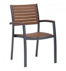 Baštenska stolica od tvrdog drveta