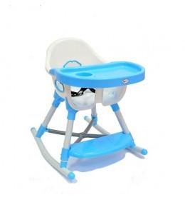 Stolica za hranjenje Lucky 611 sa funkcijom klackalice - Plava