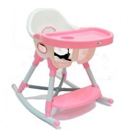 Stolica za hranjenje Lucky 611 sa funkcijom klackalice - Roze