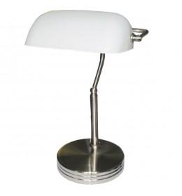Stona bankarska lampa Elit EL7940 saten-nikl