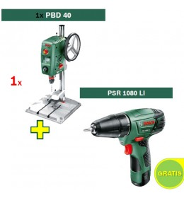 Stubna bušilica Bosch PBD 40 + Aku bušilica Bosch PSR 1080 LI