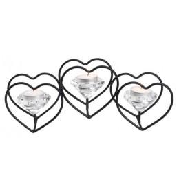Svećnjak 3 srca
