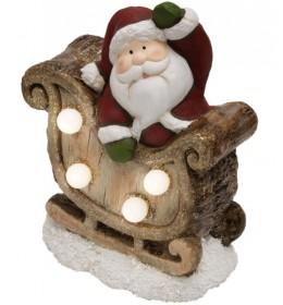 Sveteći keramički ukras Deda mraz KDC15/S