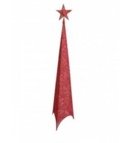 Svetleća jelka abažur 100cm crvena