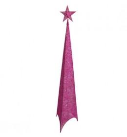 Svetleća jelka abažur 100cm roza