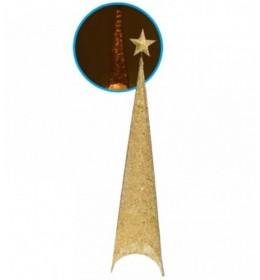 Svetleća jelka abažur 100cm zlatna