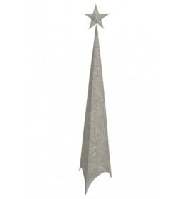 Svetleća jelka abažur 120cm srebrna