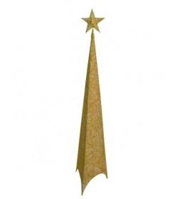 Svetleća jelka abažur 120cm zlatna