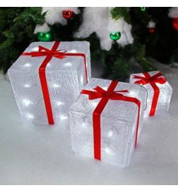 Svetleće poklon kutije LED set 3 komada