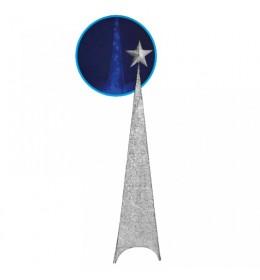 Svetleća jelka abažur 120cm srebrna 740518