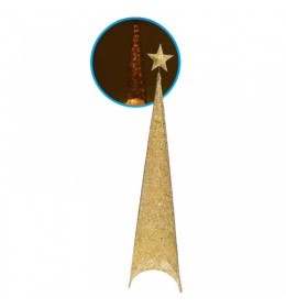 Svetleća jelka abažur 180cm zlatna 740508