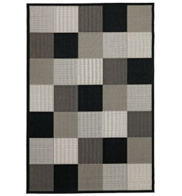 Tepih Bloks 133x195 crna/bež