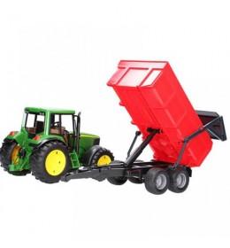Traktor Bruder John-Deere 6920 sa crvenom prikolicom 020576