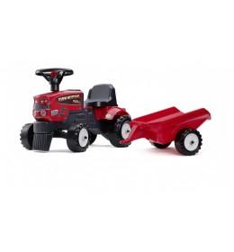 Traktor guralica crveni sa prikolicom