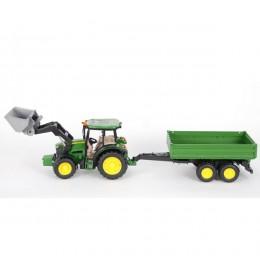 Traktor John Deere 5115M sa prikolicom Bruder 017934