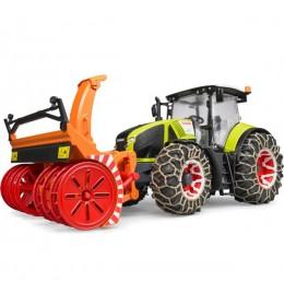 Traktor Claas Axion 950 sa lancima i frezom za sneg Bruder 030179