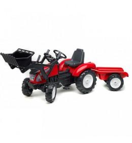 Traktor na pedale Falk Garden Master sa kašikom - crveni