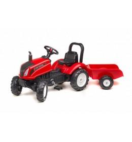 Traktor na pedale Falk Land Master sa prikolicom - crveni