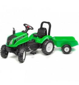 Traktor na pedale Falk Land Master sa prikolicom - zeleni