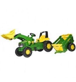 Traktor na pedale Rolly John Deere sa prikolicom i kašikom