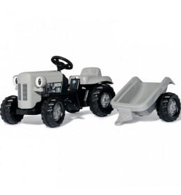 Traktor na pedale RollyToys Kid Grey Fergie sa prikolicom