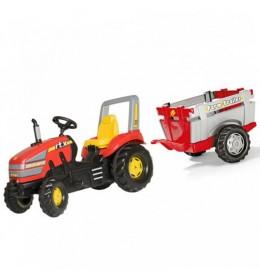 Traktor na pedale RollyToys X Track sa prikolicom i utovarivačem