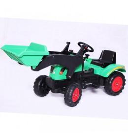 Traktor na pedale sa kašikom 03 zeleni