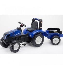 Traktor na pedale sa prikolicom Falk New Holland T8