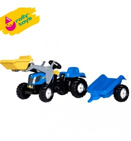 Traktor na pedale sa prikolicom i utovarivačem Rolly Kid NH T7040