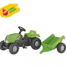 Traktor na pedale sa prikolicom RollyKid-X zeleni