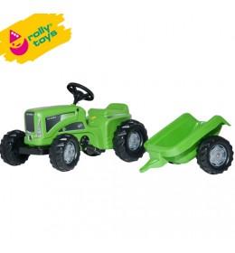 Traktor na pedale sa prikolicom  RollyKiddy Futura zeleni