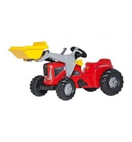 Traktor na pedale sa utovarivačem - crveni