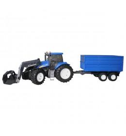Traktor New Holland 1993 T8040 sa prikolicom Bruder 019938