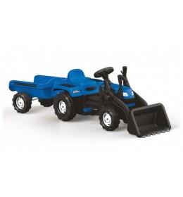 Traktor sa prikolicom i kašikom na pedale  Plavi