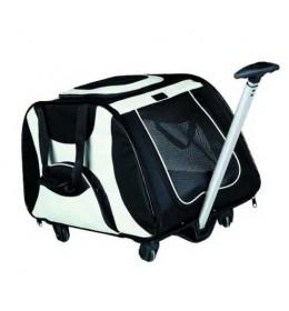 Transporter za psa sa točkićima Crno Sivi